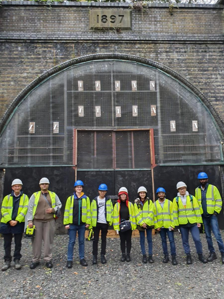 Site trip to Catesby tunnel, England. Annisa Tadiyana stands 4th from right