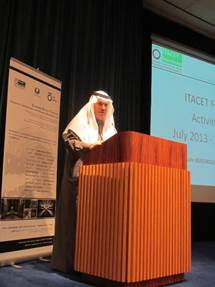 ITACET Foundation Training session on UTility Tunnels in Riyadh. H.E eng. Abdullah Al-Mogbel Mayor of Riyadh welcoming the participants